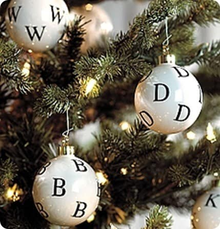 alphabet christmas tree bulbs
