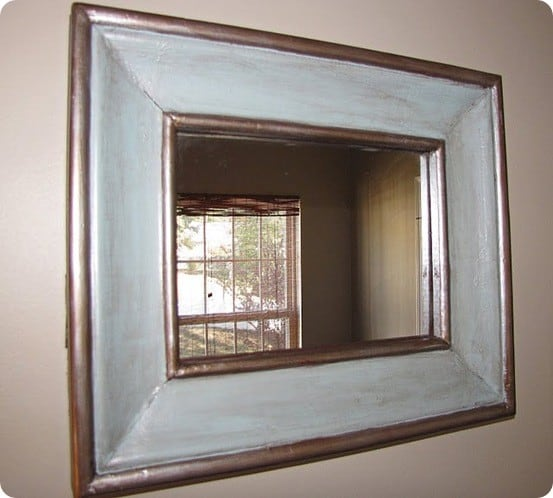 Beveled Mirror with Silver Trim