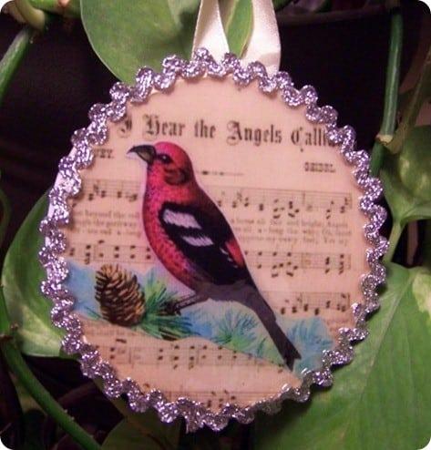 Bird and Sheet Music Ornament