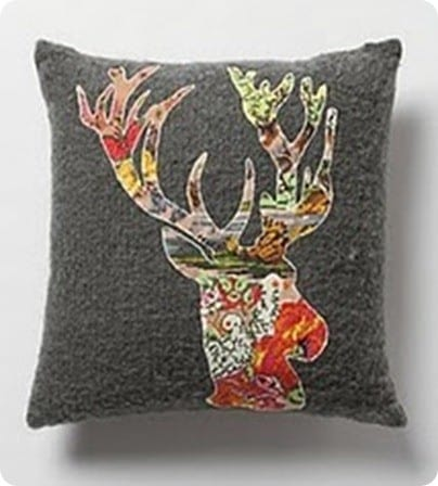Blooming Deer Pillow