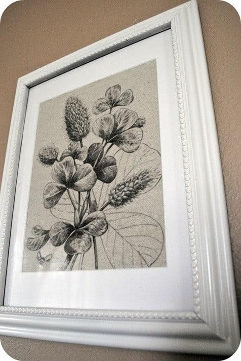 Botanical Drop Cloth Art