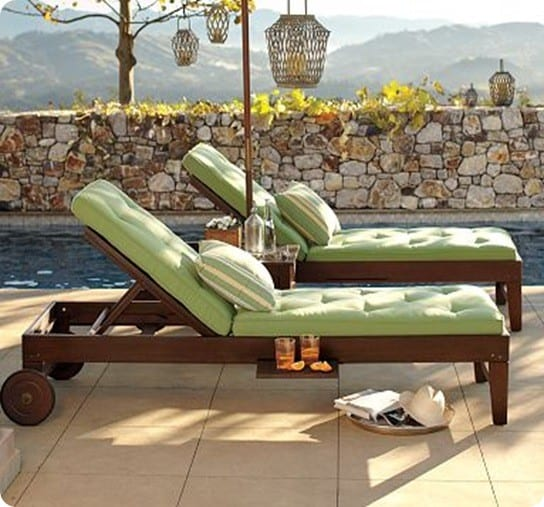 Free home plans building plans for wooden outdoor chaise for Build outdoor chaise lounge