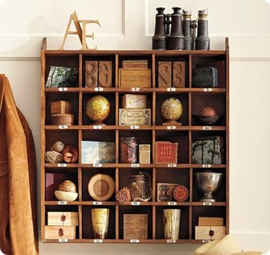 Cubby Organizer - Natural stain