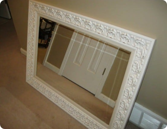 White Embossed Mirror Knockoffdecor Com