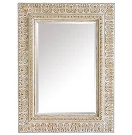 Ivory Embossed Mirror