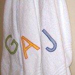 Kid's Monogrammed Bath Towels