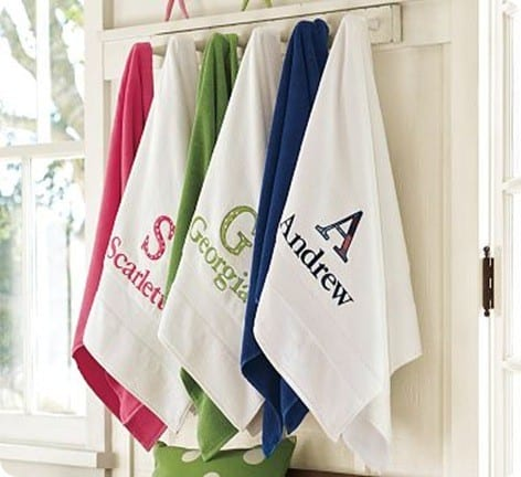 Personalized Applique Essential Bath Towels