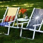 Colorful Fabric Beach Chairs