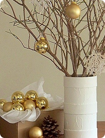 White Christmas Planter