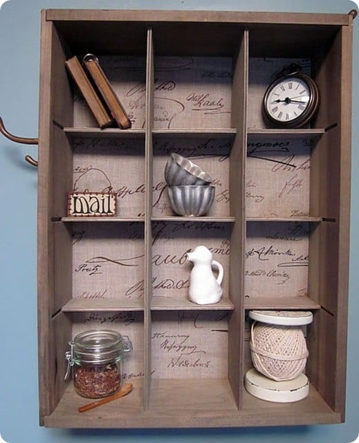 Susan Was Inspired By The Cubby Organizer With Natural Stain From Pottery Barn Which Retails For 129 00