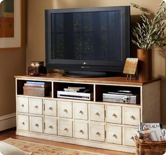 Faux Drawer Media Console