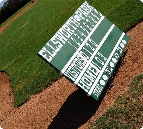 DIY scoreboard