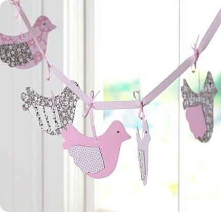 Fabric Bird Garland