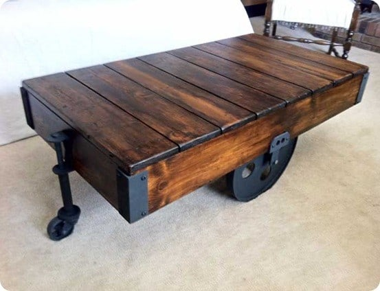 Factory Cart Coffee Table 2