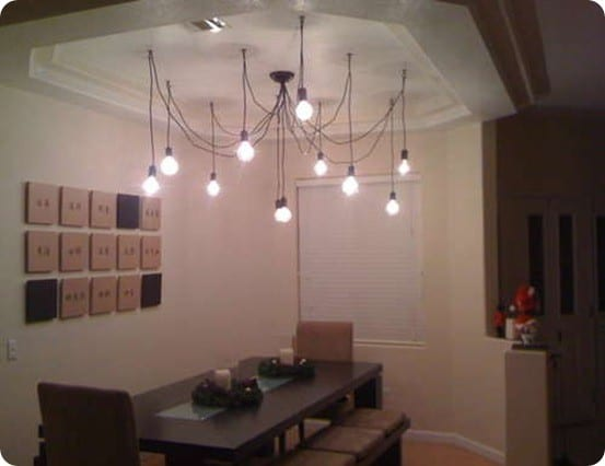 Industrial Wire And Bulb Chandelier