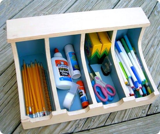 Homework Supplies Storage Bin