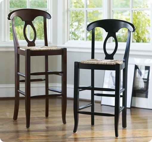 Black Barstools With Backrest