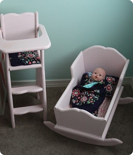 Pink Play Highchair and Cradle