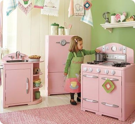 Pink Play Kitchen Set
