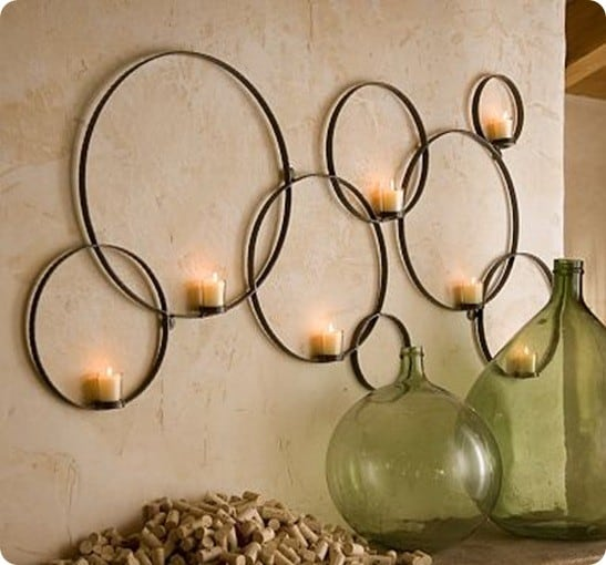 Pottery Barn Circles Wall-Mount Votive Holder