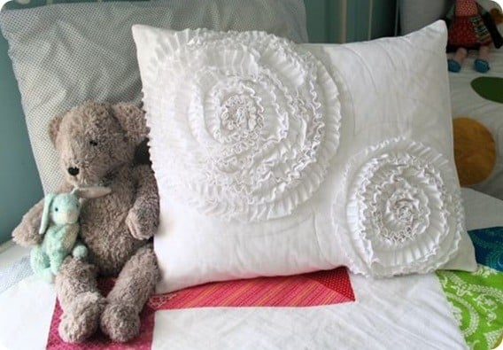 Ruffled Circle Pillow Sham