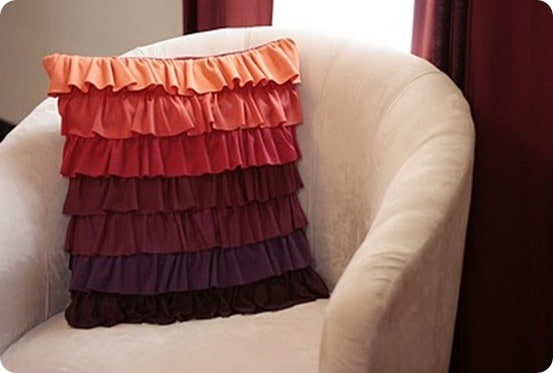 Ruffled Pillow