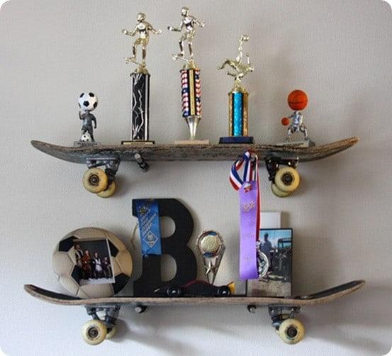 Skateboard Themed Shelving