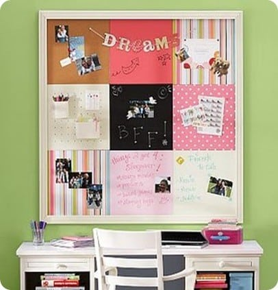 Fabric Squares Bulletin Board