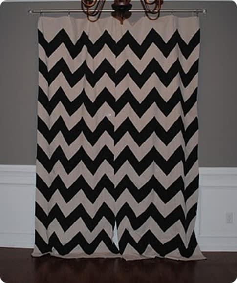 Black Chevron Curtains