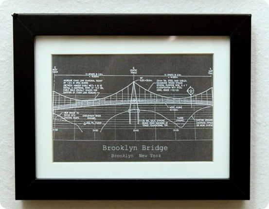 Bridge Blueprint Framed Art Knockoffdecor Com
