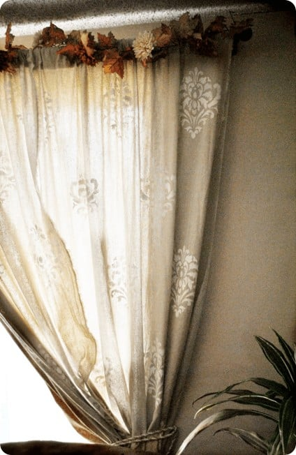 Damask Linen Curtains