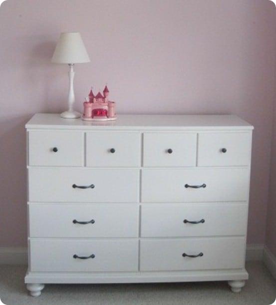 Simple White Girls Dresser