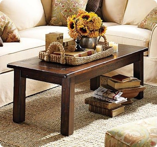 table was inspired by the hyde coffee table from pottery barn