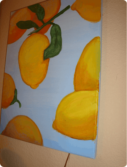 Lemon Canvas Painting