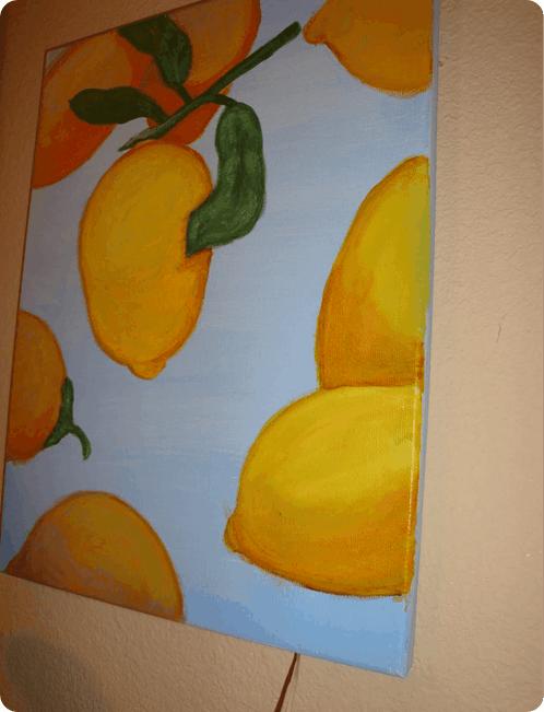 Lemon Canvas Painting