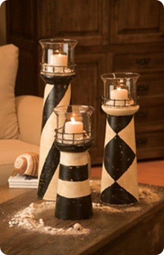 Nautical Lighthouse Candle Holders