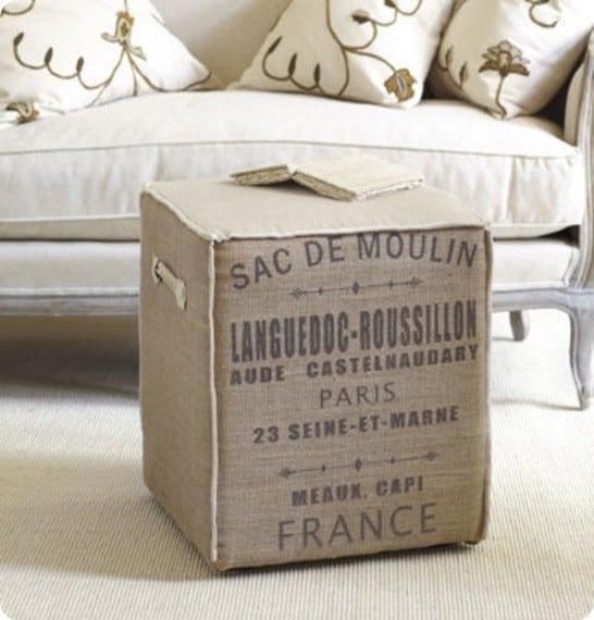 Moulin Burlap Cube