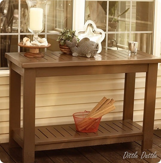 Outdoor Slatted Console Table Knockoffdecor Com