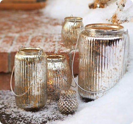 Paros Mercury Glass Lanterns
