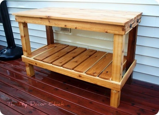 Large Cedar Potting Bench