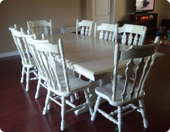 Refinished White Dining Set