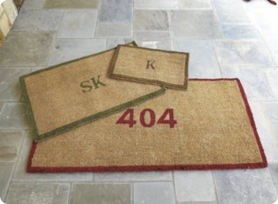 Custom Stenciled Doormats