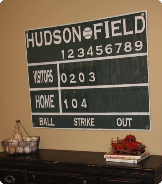 Vintage Scoreboard Wall Decor