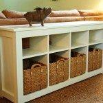 Best of Knock Off Decor #1: White Storage Sofa Table