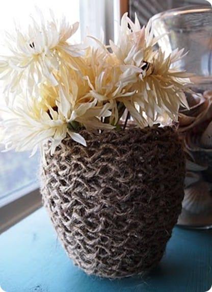 Woven Hurricane Vase