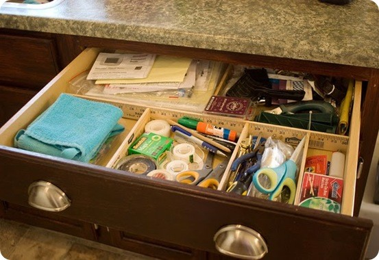 Yard Stick Drawer Organizer