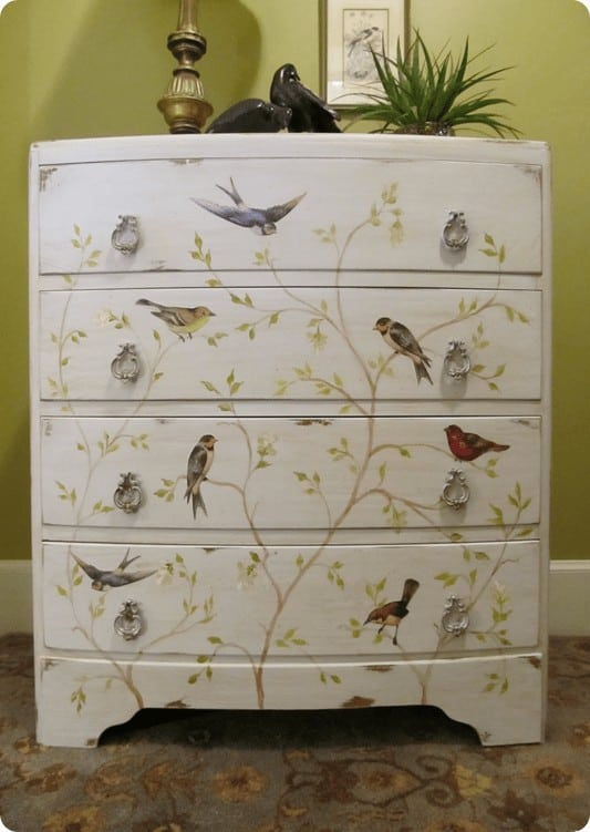 Bird and Branch Bow Chest