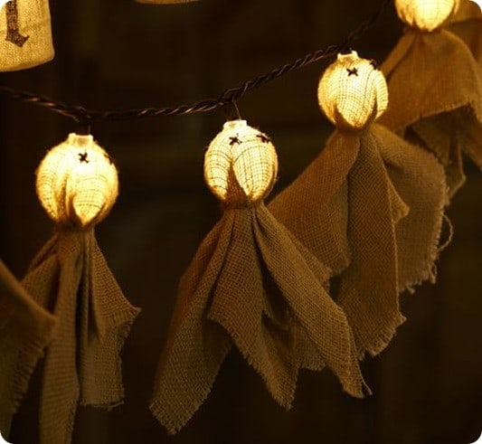 Burlap Ghost String Lights