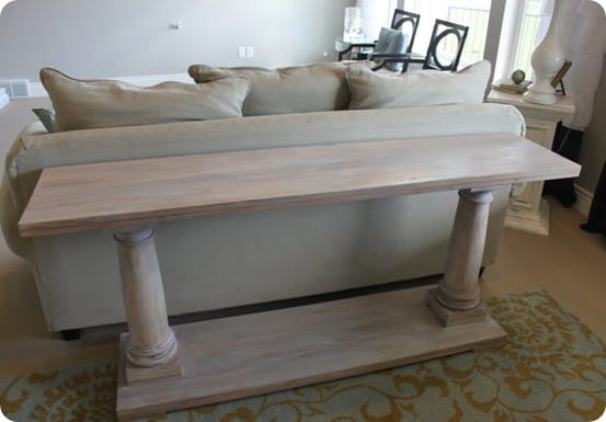 Column Console Table