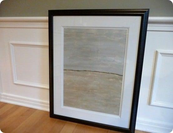 DIY art framed